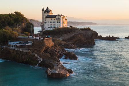 Biarritz Plage de Port Vieux Stock Photo