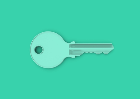 Minimalist style key concept for business, careers, key to success, unlocking potential and security