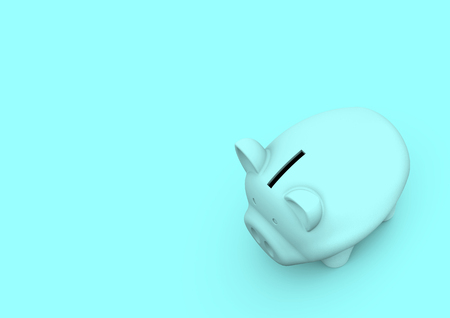 Piggy bank minimalist concept for accounting finance and savings