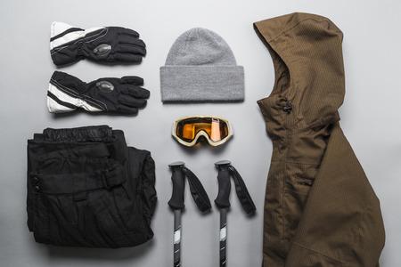 Sélection de vêtements de sports d'hiver
