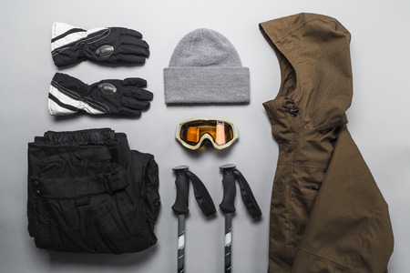 Winter sports gear selection Stock fotó - 126739828