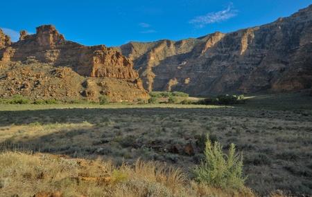 A flood plain in Desolation Canyon