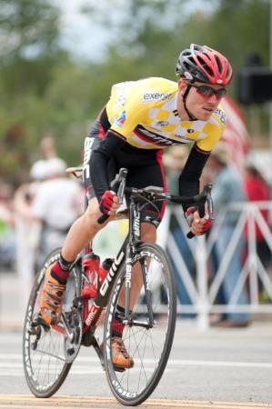 BUENA VISTA, CO - AUGUST 22, 2012: Tejay van garderen races in US Pro Cycling Challenge on August 22, 2012 in Buena Vista, CO. The