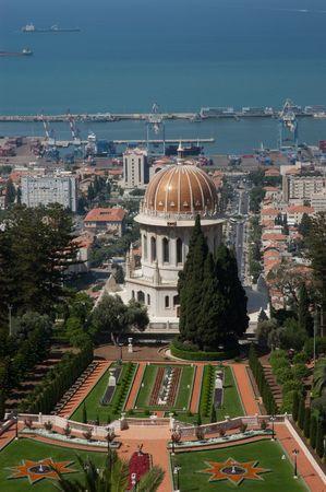 bahai: Bahai Gardens in Haifa, Isra�l Stock Photo