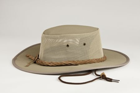 Outback style hat Stock Photo