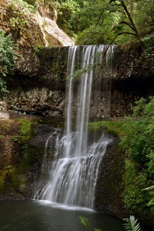 silver state: Waterfalls, Lower South Falls in Silver Falls State Park