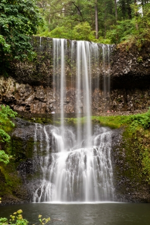 Lower South Falls is waterfall in Silver Falls State Park, Oregon, U.S.A.