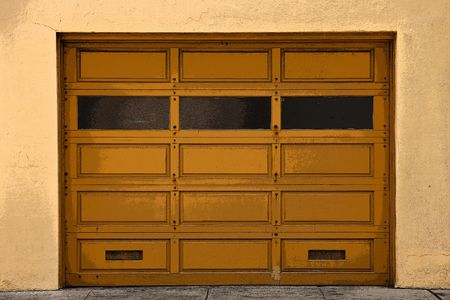 windows and doors: An old Garage Doors