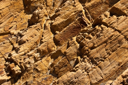 Rock texture.  The view of the layers of weathered rock Stock Photo - 7202905