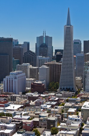 San Francisco Down Town. View from Coit Tower. photo
