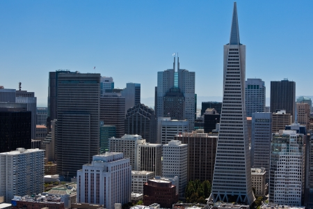 pyramid peak: San Francisco Down Town. View from Coit Tower.