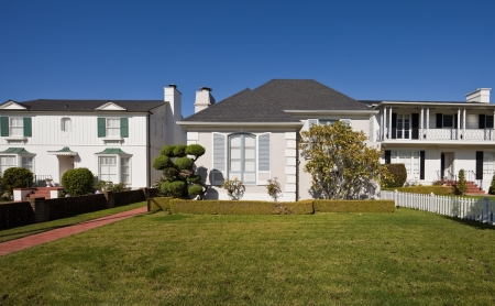 Average american two-story residential home
