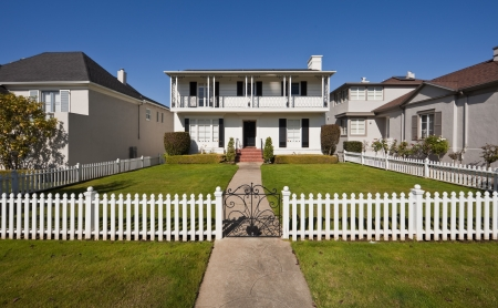 Average american two-story residential home  Editorial