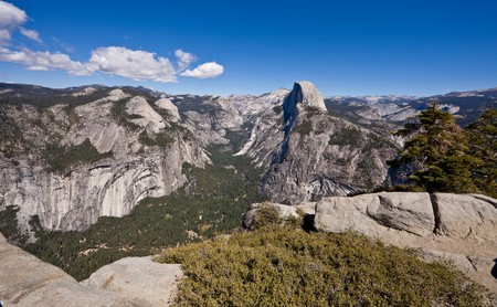 View from Glacier Point, which is the most spectacular viewpoint. Yosemite National Park, California, U.S.A. photo