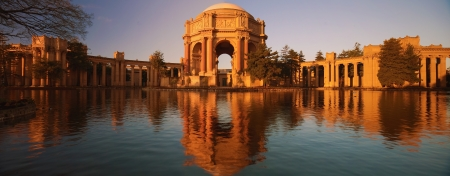The Palace of Fine Arts is a monumental structure originally constructed for the 1915 Panama-Pacific Exposition in order to exhibit works of art presented there