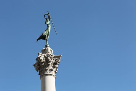 major battle: Victory Statue in Union Square, San Francisco, California.