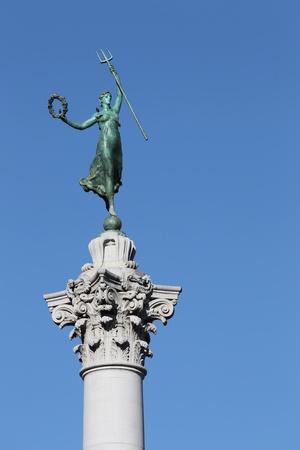 dewey: Statua della vittoria in Union Square, San Francisco, in California. Archivio Fotografico