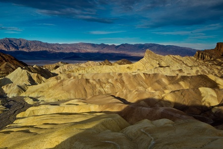 Manly Beacon from Zabriskie Point, Death Valley National Park, California. Stock Photo - 9253980