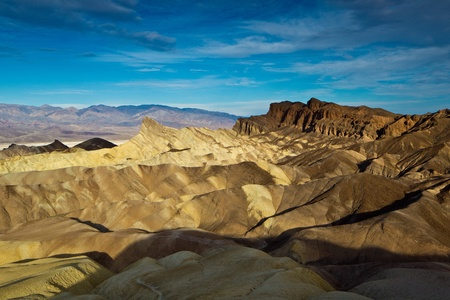 Manly Beacon and Red Cathedral from Zabriskie Point, Death Valley National Park, California. Stock Photo - 9253979