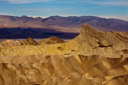 Manly Beacon from Zabriskie Point, Death Valley National Park, California. Stock Photo - 9253984