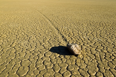 Racetrack Playa, Death Valley National Park, California. The Racetrack Playa, or The Racetrack, is a scenic dry lake photo