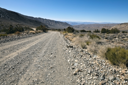 Rough road in Death Valley National Park, California. Death Valley is a desert valley located in Eastern California. Stock Photo - 9946262