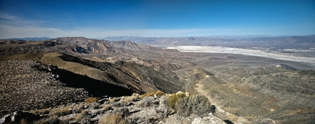 borax: Perspective over Death Valley from Aguereberry viewpoint.
