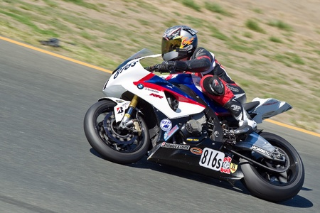 raceway: SONOMA, CA - JULY 8: Sport bike rider racing on Z2 Track Days on July 8, 2011 at the Infineon International Raceway in Sonoma, CA.