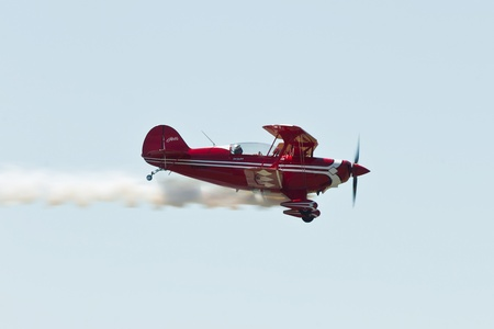charles county: SANTA ROSA, CA - AUG 21: Tim Decker flies on his Pitts S-2B during the Wings Over Wine Country Air Show, on August 21, 2011, Charles M. Schulz - Sonoma County Airport, Santa Rosa, CA.
