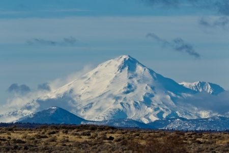 California Landscape:  Mount Shasta in California. Stock Photo