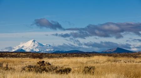 lenticular: California Landscape:  Mount Shasta in California. Stock Photo
