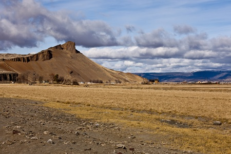 Northern California Landscape: view from Petroglyph Point, near Lava Beds National Monument, Tulelake, CA. Stock Photo - 12608800