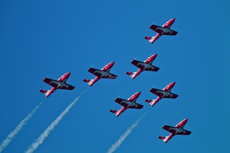 professionalism: SAN FRANCISCO, CA - OCTOBER 8: The Snowbirds Demonstration Team (431 Squadron), demonstrate the skill, professionalism, and teamwork of Canadian Forces personnel during Fleet Week on October 8, 2011 in San Francisco, CA.  Editorial