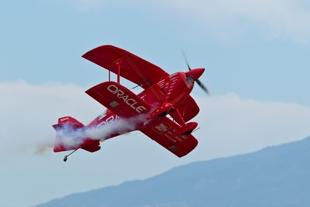 SALINAS, CA - SEPT 25: Sean D. Tucker demonstrates precision of flying and the highest level of pilot skills during the California International Airshow, on September 25, 2011, Salinas, CA. Stock Photo - 13669687