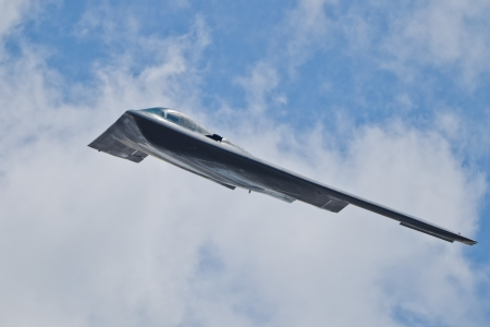 TACOMA, WA ? JULY 21: Northrop Grumman B-2A Spirit (?Spirit of Ohio?) flyby demonstration during Air Expo at McChord Field Joint Base Lewis-McChord on July 21, 2012 in Tacoma, WA.