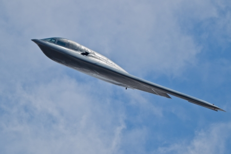 tacoma: TACOMA, WA ? JULY 21: Northrop Grumman B-2A Spirit (?Spirit of Ohio?) flyby demonstration during Air Expo at McChord Field Joint Base Lewis-McChord on July 21, 2012 in Tacoma, WA.