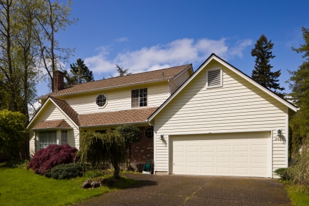 Residential home.  Average american two story residential home. photo