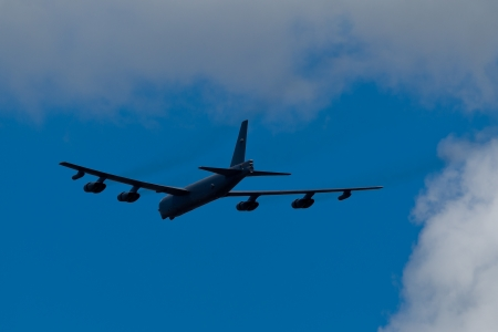 sequestration: TACOMA, WA - JULY 21: Boeing B-52 Stratofortress flyby demonstration during Air Expo at McChord Field Joint Base Lewis-McChord on July 21, 2012 in Tacoma, WA.  Editorial
