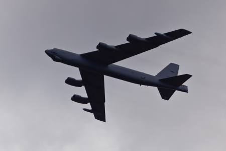 sequester: TACOMA, WA - JULY 21: Boeing B-52 Stratofortress flyby demonstration during Air Expo at McChord Field Joint Base Lewis-McChord on July 21, 2012 in Tacoma, WA.  Editorial