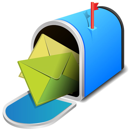 open mailbox with two letters Vector