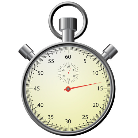 stop watch: Vector stop watch, realistic illustration