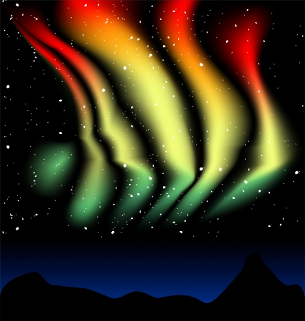 borealis: Aurora Borealis dances Illustration