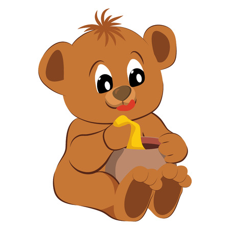 Bear toy on a white Vector illustration  Vector