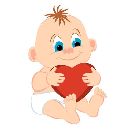 Baby boy cartoon  Vector illustration