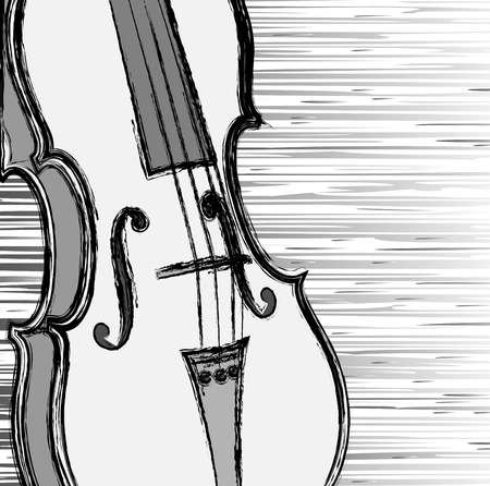 Grunge violin  Vector illustration Vector