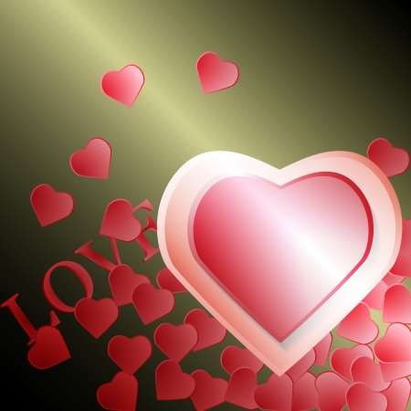 valentine s day background: Valentine s day background with hearts