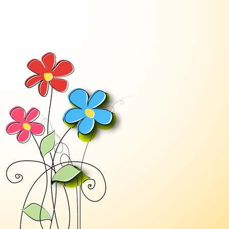 Paper flower background  Vector illustration Vector