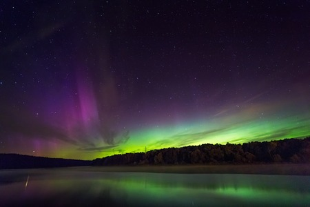 Northern lights in Lithuania