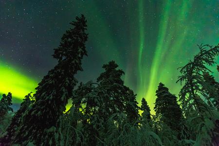 Northern lights image taken in Finish Lapland
