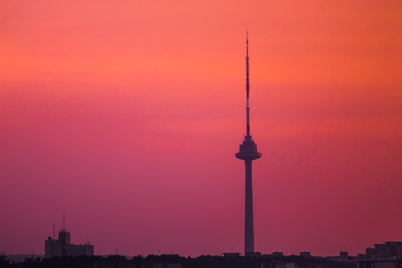 Bautiful picture of TV tower in the evening Imagens - 92656498